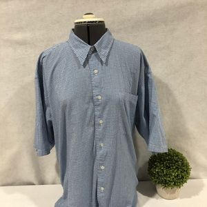 Christian Dior Blue and White Short Sleeve XL